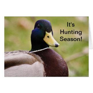C'est carte de canard de saison de chasse