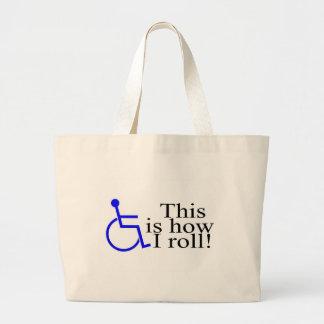 C'est comment je roule le fauteuil roulant sac en toile jumbo