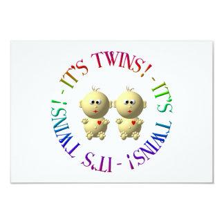 C'est des jumeaux ! carton d'invitation 8,89 cm x 12,70 cm
