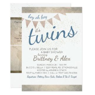 C'est des jumeaux ! Invitation de baby shower