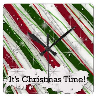 C'est horloge murale décorative de temps de Noël