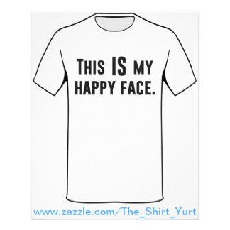 C'EST mon visage heureux Prospectus 11,4 Cm X 14,2 Cm