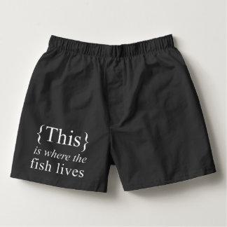 C'est où le poisson vit les boxeurs noirs de coton