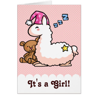 C'est un lama de fille ! carte de vœux