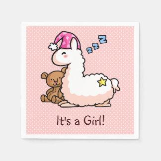 C'est un lama de fille ! serviette en papier