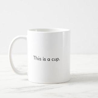 C'est une tasse de café de tasse