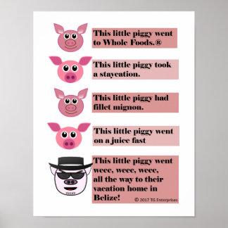 """""""Cette petite"""" affiche porcine de parodie, 11"""" x Poster"""