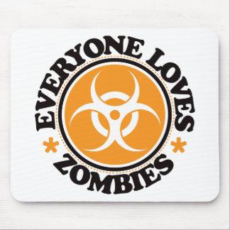 Chacun aime des zombis - orange tapis de souris