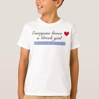 Chacun aime une fille grecque t-shirt