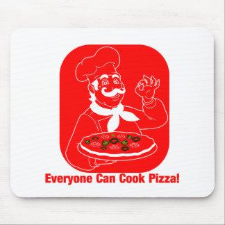 Chacun peut faire cuire la pizza tapis de souris