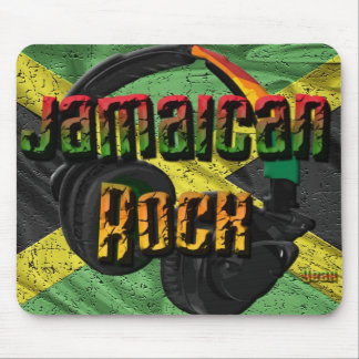 Chaîne jamaïcaine de drapeau de roche tapis de souris