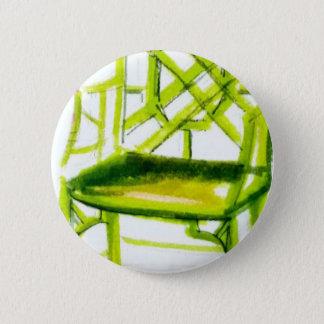 chaise de chinoiserie pour la carte d'endroit badge rond 5 cm