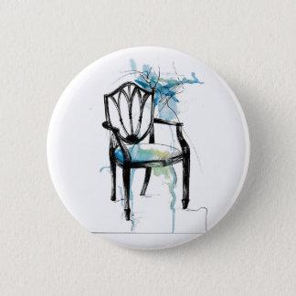 Chaise de Hepplewhite - aquarelle Badge Rond 5 Cm