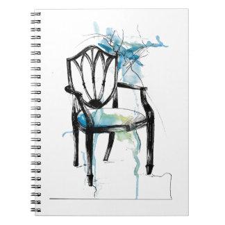 Chaise de Hepplewhite - aquarelle Carnets