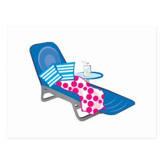 Chaise longue carte postale