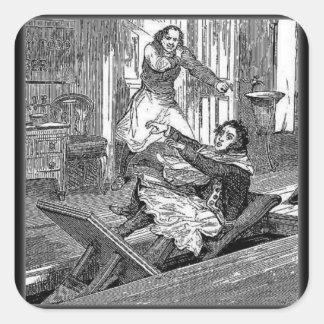 Chaise-Penny de Todd-Coiffeurs de Sweeney terrible Autocollant Carré