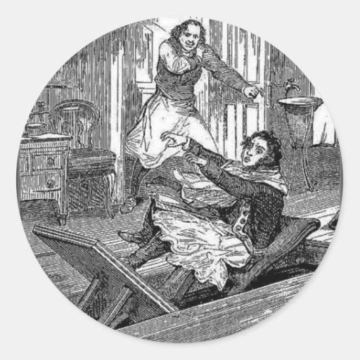 Chaise-Penny de Todd-Coiffeurs de Sweeney terrible Adhésif Rond