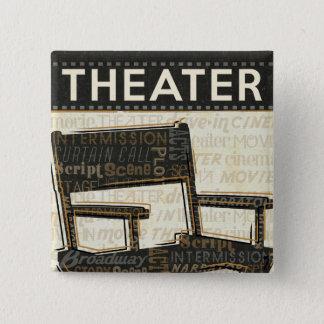 Chaise vintage de film badge carré 5 cm