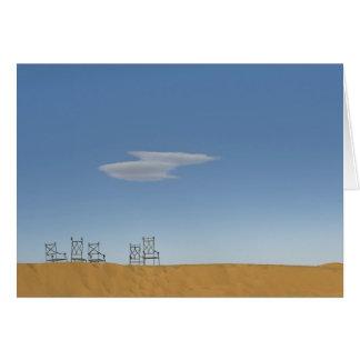 Chaises sur le Sahara Carte