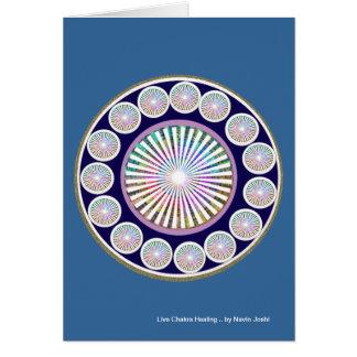 CHAKRA multiples - Mandala vivant de l'étincelle n Carte De Vœux