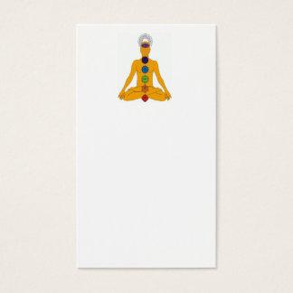 chakras de yoga carte de visite standard