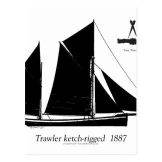 chalutier 1887 ketch-calé - fernandes élégants carte postale