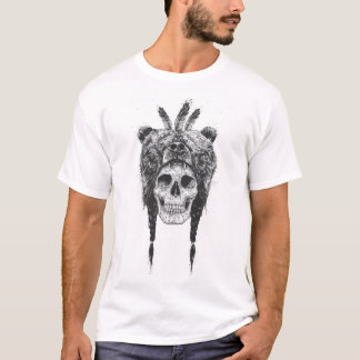 Chaman mort (b&w) t-shirt