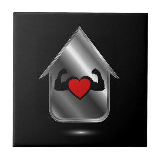 Chambre avec un coeur sain carreau