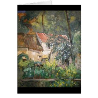 Chambre de Père Lacroix par Paul Cézanne Carte De Vœux