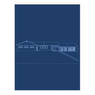 Chambre de style de ranch : Croquis de mise au Carte Postale