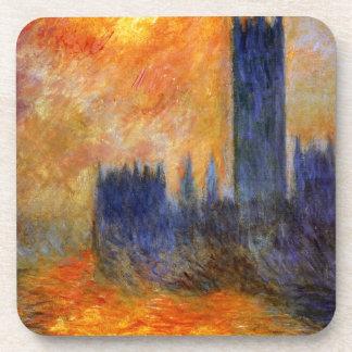 Chambre du Parlement Sun par Claude Monet Dessous-de-verre