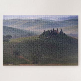 Chambre en Toscane dans le puzzle denteux de