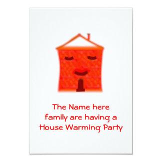 Chambre rouge, cartes de chauffage de la partie carton d'invitation 8,89 cm x 12,70 cm