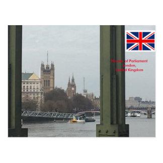 Chambres du Parlement, Londres Royaume-Uni Carte Postale