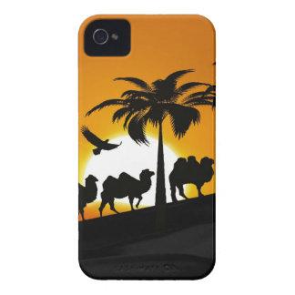 Chameaux de désert au coucher du soleil coques iPhone 4