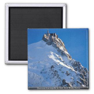 Chamonix d'Aiguille De Midi, Mont Blanc, France Magnet Carré