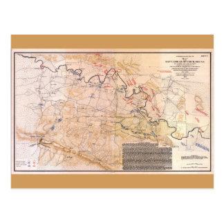 Champ de bataille de carte de guerre civile de