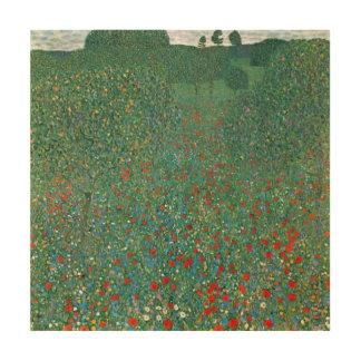 Champ de pavot par Gustav Klimt, art vintage