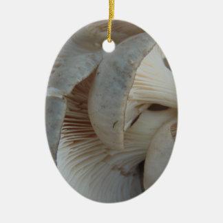 Champignons d'huître ornement ovale en céramique