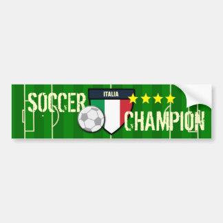 Champion du football de l'Italie Italie Autocollant De Voiture
