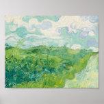 Champs de blé verts, Auvers 1890 (Vincent van Gogh Poster