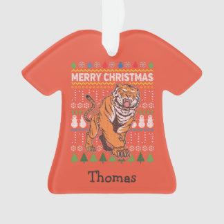 Chandail laid de Joyeux Noël de faune de tigre