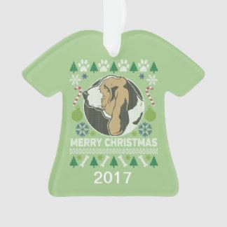 Chandail laid de Noël de Basset Hound