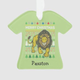 Chandail laid de Noël de lion