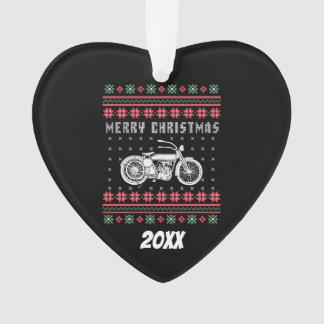 Chandail laid de Noël de moto vintage
