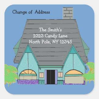 Changement d'adresse de Chambre confortable chaud Sticker Carré