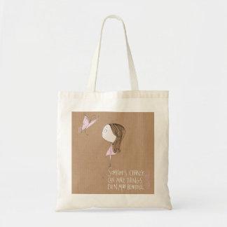 """""""Changement"""" - sac de fille et de papillon"""