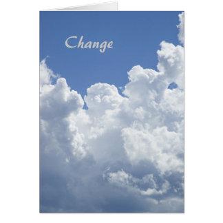Changement : Une carte de motivation de modèle