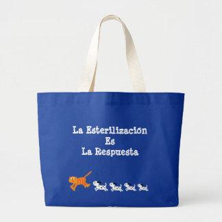 Changer espagnol est le chat et les chiots de grand sac