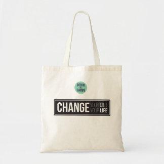 Changez votre changement de régime votre épicerie sac en toile budget